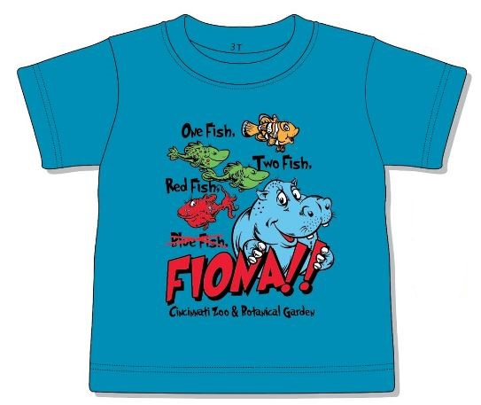 Toddler Tee Fish & Hippo