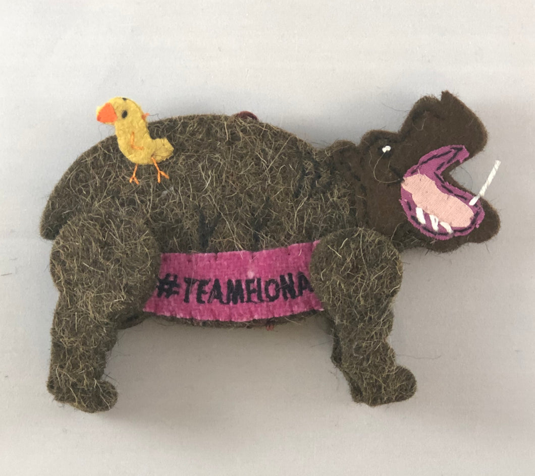 ORNAMENT HIPPO WOOL FIONA