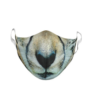 TODDLER CHEETAH FACE MASK