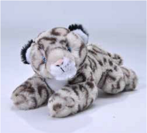 Ecokins Mini Snow Leopard 8""