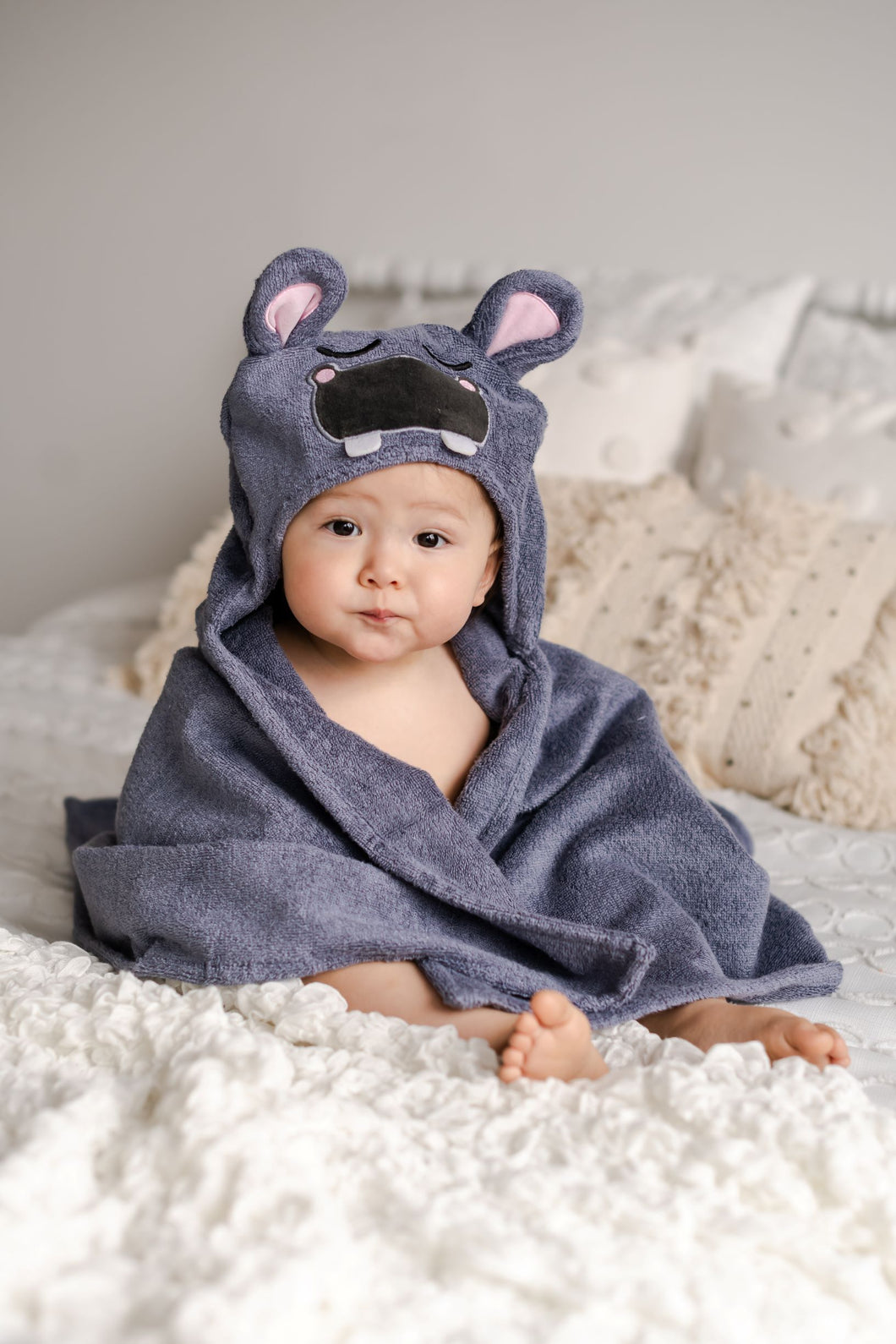 Towel Kids Hooded Hippo