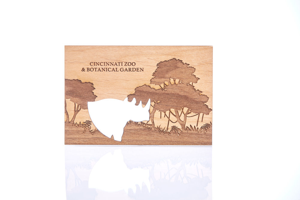 Card Wood Cut CZBG Logo