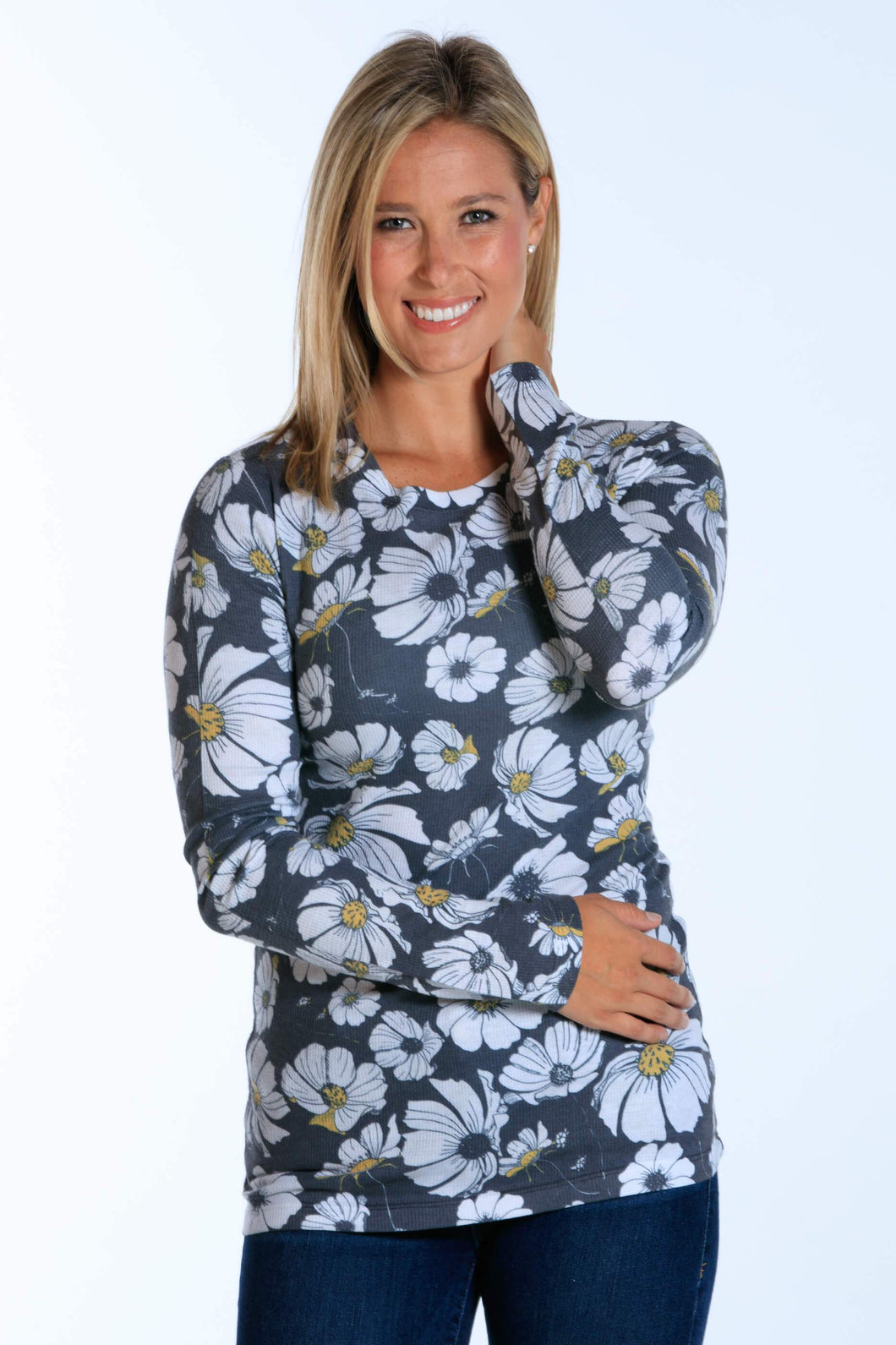 Swaying Daisy long sleeve thermal crew neck