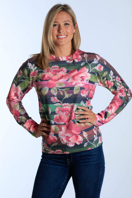 Mexican Roses long sleeve french terry sweatshirt