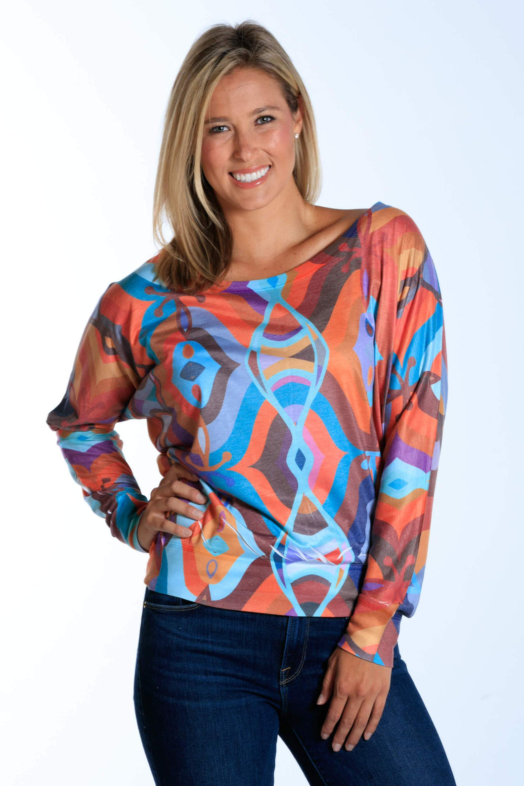 Tibetan Groove Beads long sleeve dolman