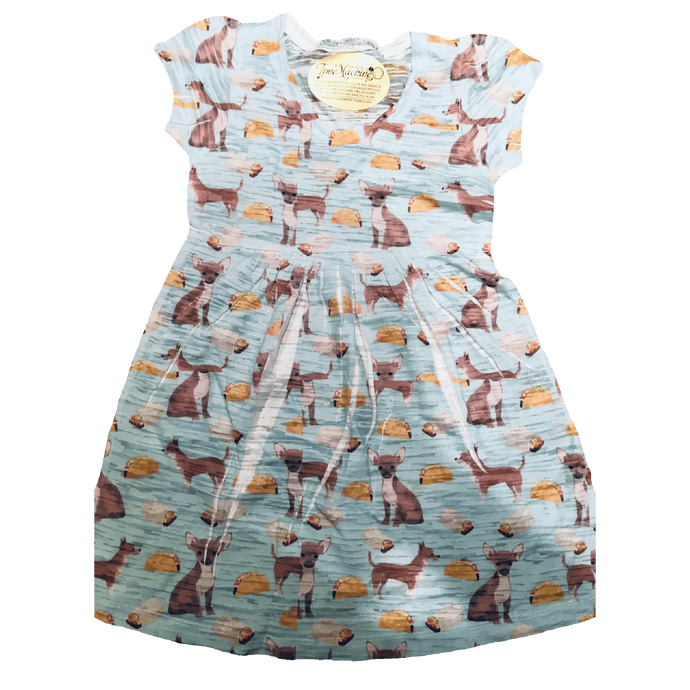 Blue Taco all over print pattern youth dress