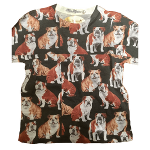 Ellie the Bulldog repeat all over print pattern youth thermal