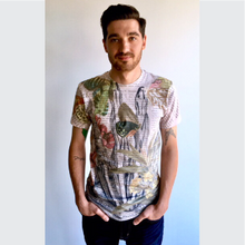 Load image into Gallery viewer, Back In Five Clothing,Floral Skeleton Hand Tee,T-Shirt