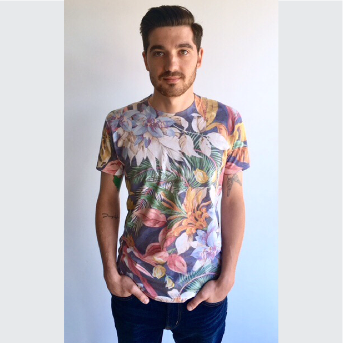 Back In Five Clothing,Hibiscus Floral Tee,T-Shirt