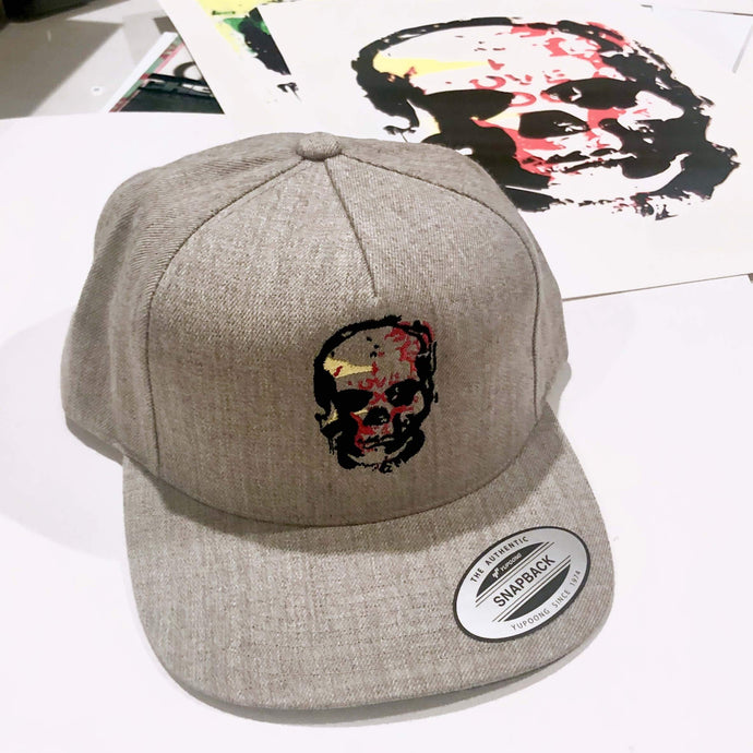 KMG Love Skull embroidered graphic snapback