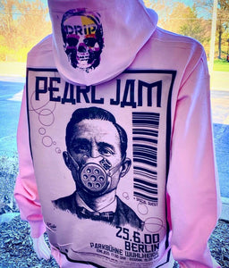 Pearl Jam facemask graphic hoodie in pink