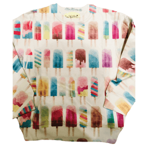 Popsicle all over print pattern youth sweatshirt