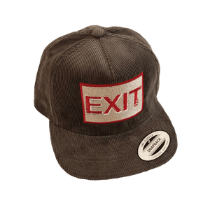 "DTLA Gift Shop,DTLA x MERCH Corduroy ""EXIT"" Embroidered SnapBack,Hat"