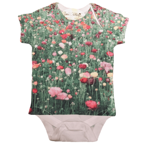 Wildflower graphic full print onesie