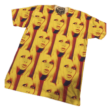 Load image into Gallery viewer, 'Yellow Brigitte Bardot' All Over Print Tee | Unisex Size XS-XXL