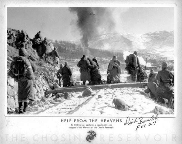 """Help From the Heavens"" photo autographed by Dick Bonelli"