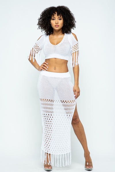 Jasmine Crochet Set - White