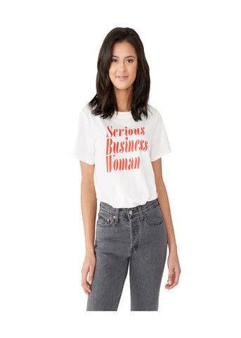 Serious Business Woman Tee - Ivory