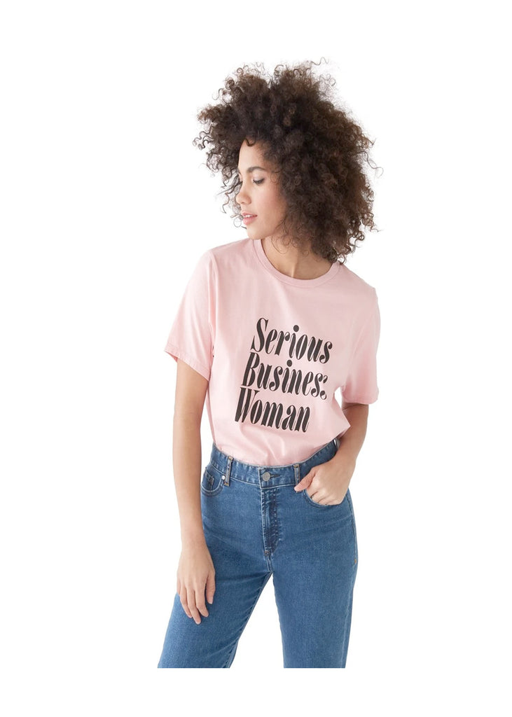 Serious Business Woman Tee - Pink