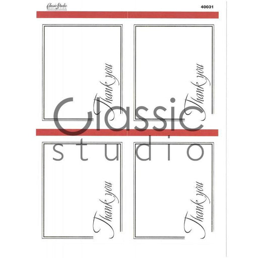 Classic Studio Collection Labels