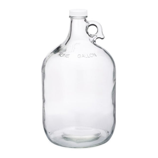 Glass Jug, 1 Gallon, Clear, with cap