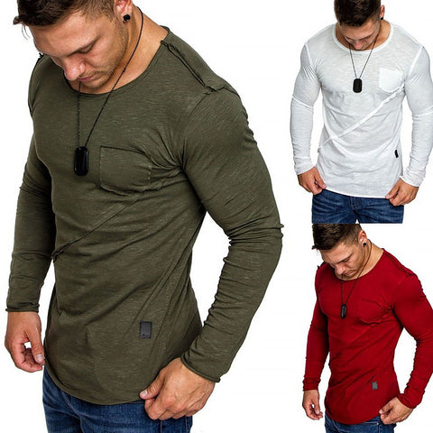Men Plus Size High-Elastic Cotton T-Shirts