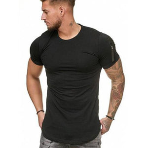 Round Neck Solid Color T-Shirt