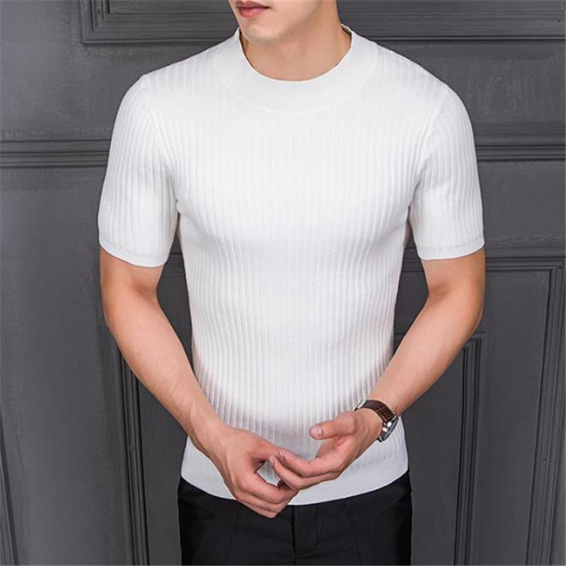 Fashion Youth Sport Slim Plain Short Sleeve Top