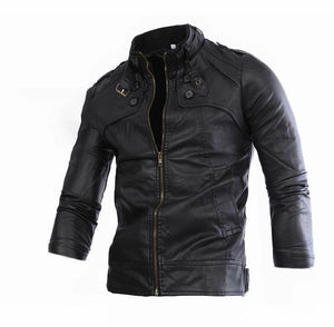Men's Stand Collar Slim Jacket