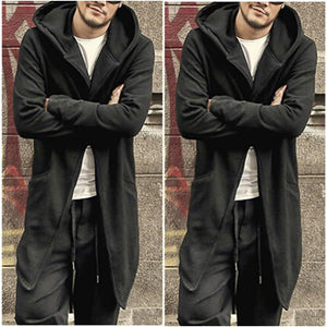Fashion Slim Fit Plain One Button Long Overcoat