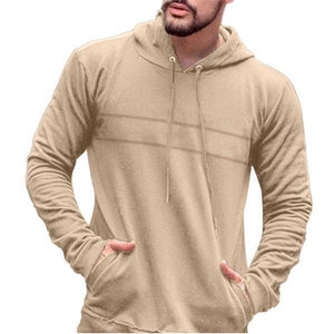 Fashion Casual Sport Loose Solid Color Long Sleeve Men Hoodie