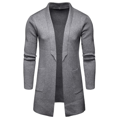 Fashion Hot Sale Knitting Textile Lapel Woolen Plain Overcoat