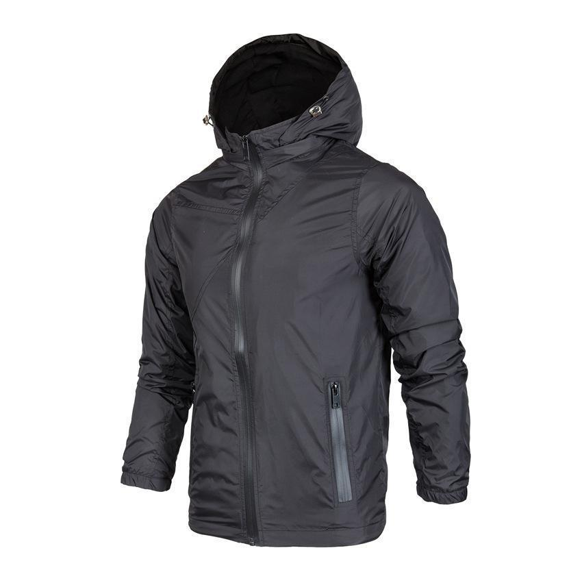 Casual Plain Thin Waterproof Windproof  Outdoor Jacket