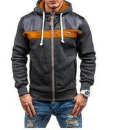 Best Selling Men's Sports And Leisure Jacquard Fleece Cardigan Hoodies