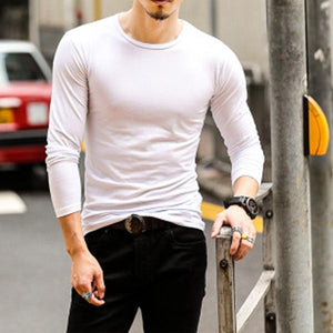 Men's Round Neck Solid Color T-Shirts
