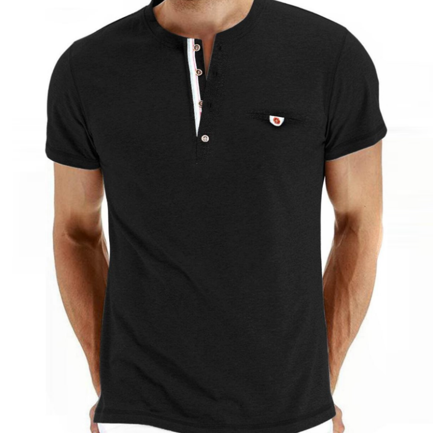 Large Size Men Plain Multicolor T-Shirt