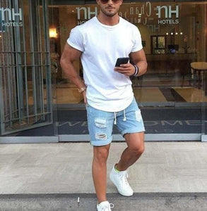 Personality Fashion Wear-Washed Men's  Five Shorts