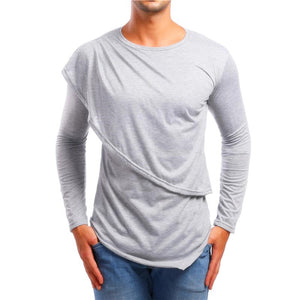 Men's Patchwork Style Casual Long Sleeve T-Shirts