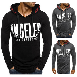 Men's Fashion Solid Color Embroidered Hoodie