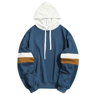 Fashion Hip Hop Sports Colorblock Hoodie