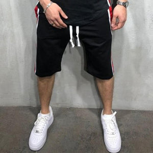 Casual Sports Fitness Stitching Shorts Jogging Shorts