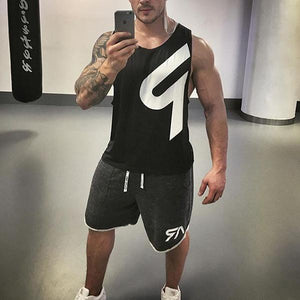 Men's Sporty Breathable Fitness Slim Tank