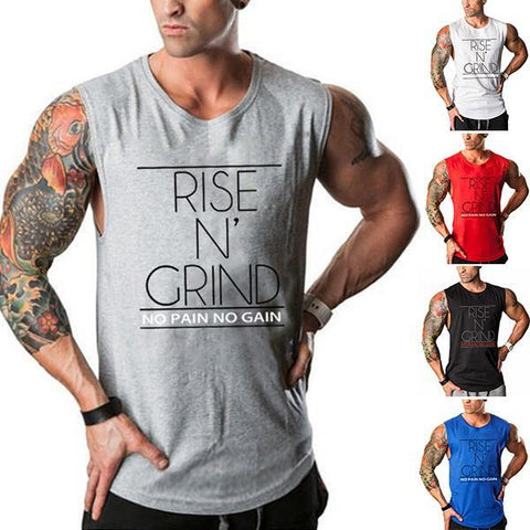 Men's Fashion Solid Color Loose Training Tank