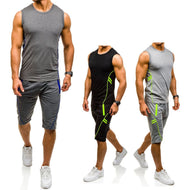 Fashion Sleeveless Jogging Sports Suit