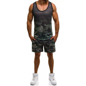 Men's Casual Sports Camouflage Sports Suit
