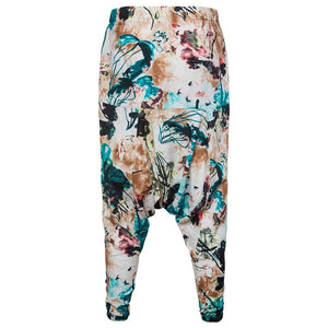 Fashion Printed Cotton And Linen Loose Haren Pants