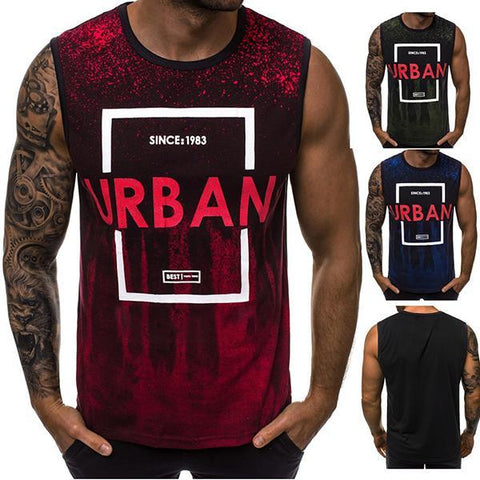 Men's Fashion Gradient Color Printing Tank