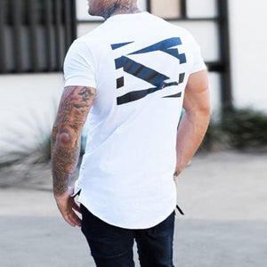 Breathable Short Sleeve Printed Solid Color T-Shirt
