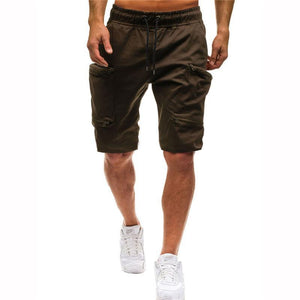 Daily Multiple Pockets Tooling Style Elastic Waist Shorts