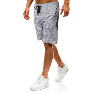 Men's Camouflage Tether Belt Casual Shorts